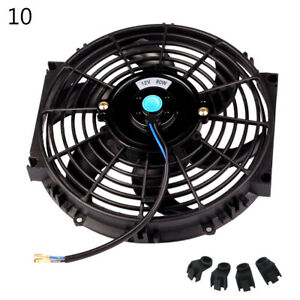 "10/"" 12/"" 14/'/' Universal Car Motorcycle Electric Radiator Cooling Fan 80W DC12V"