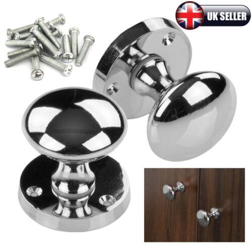 1-16pcs Chrome Metal Door Drawer Cabinet Wardrobe Furniture Pull Handle Knobs UK