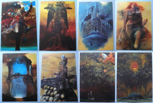 Art poster Zdzislaw Beksinski Variations