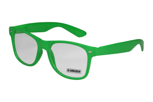 Nerd Brille Nerdbrille ohne Stärke Vintage Klarglas Männer Frauen Herren schwarz