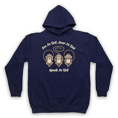 Angemessen See No Evil Hear No Evil Speak No Evil 3 Wise Monkeys Adults Kids Hoodie Einfach Zu Verwenden