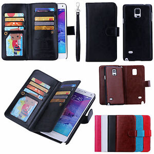 Luxury-Practical-Magnetic-9-Card-slot-PU-Leather-Flip-Wallet-Phones-Case-Cover