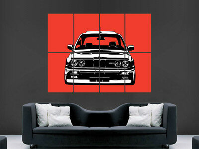 BMW E30 M3 POSTER RALLY CAR ART WALL LARGE IMAGE GIANT