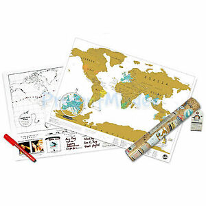 ORIGINAL-Travel-Scratch-Map-From-Luckies-Personalised-World-Map-Great-Gift-Idea