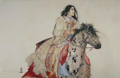 Brave Horse Art Poster Print by Carol Grigg, 34x22