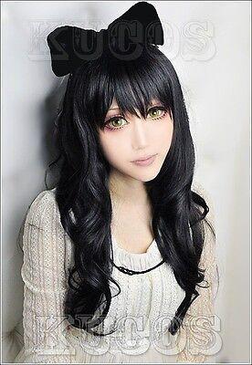"LY_504 RWBY ""Black"" Trailer Blake Belladonna 80cm Long wavy cosplay wig"
