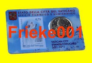 Vaticaan - Vatican - 50 cent coincard 2011 + postzegel.(1ste uitgifte)