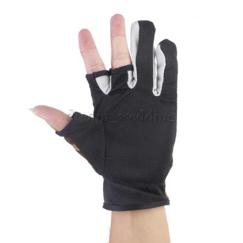 Neopren Handschuhe Anti-Slip 3 Fingern Anglerhandschuhe Tarnfarbe