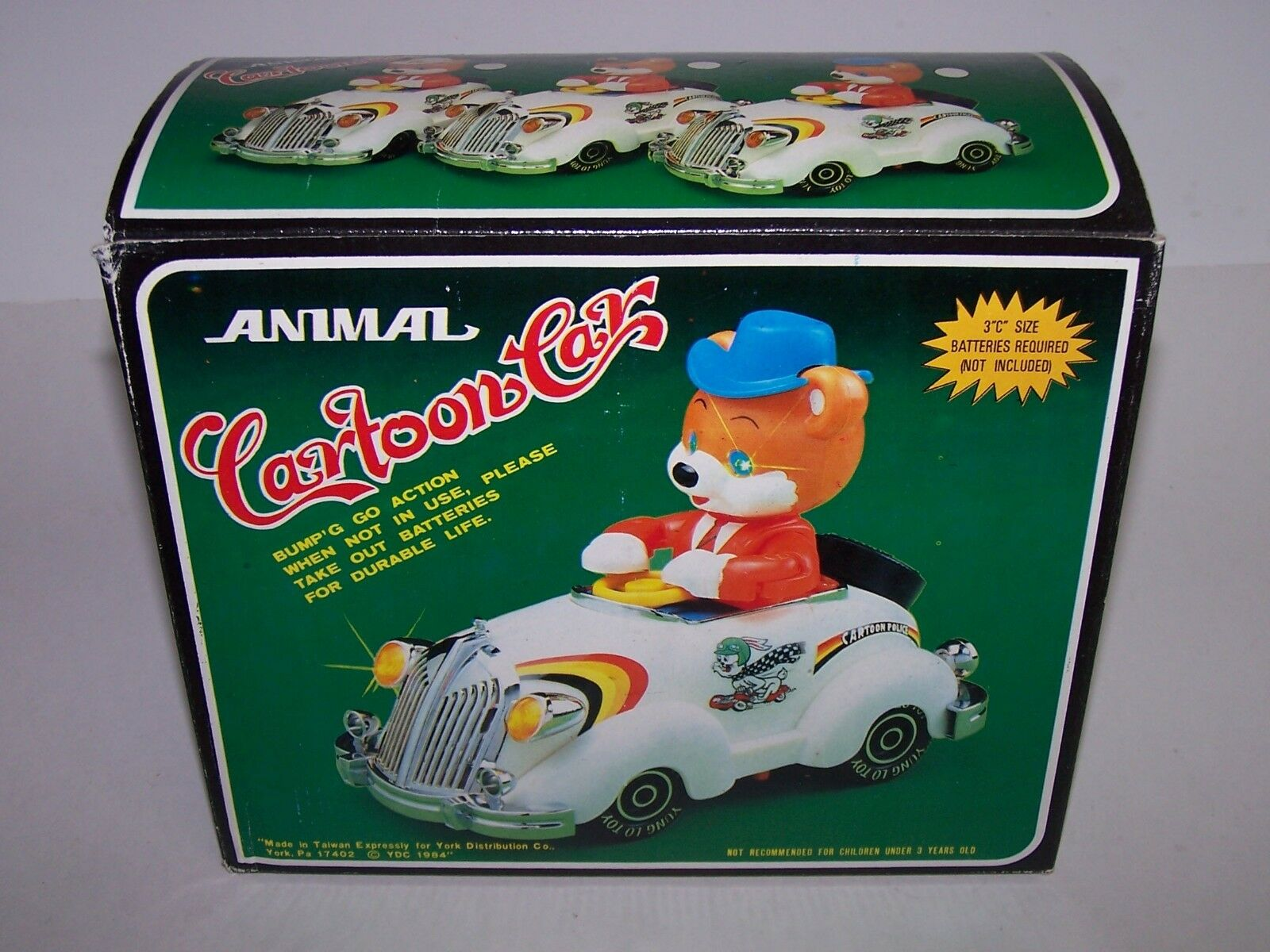 Bear Animal Cartoon Cars Bump N Go Action Requires Batteries Batteries Batteries NIB 1984 3ab40f
