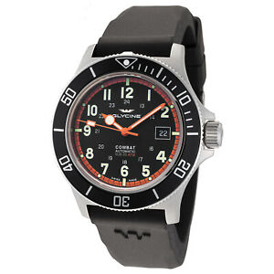 Glycine Men's 3908.191AT.N1.D9 Combat Sub Automatic 42mm Black Dial - GL0088
