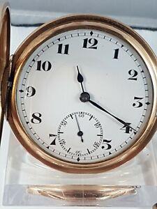 Record  Half hunter case  pocket Watch, working! Nice collector pocket watch !
