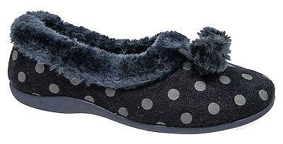 Para Mujer Zapatillas de espuma de memoria/Azul Marino Slip On durmientes Tallas 3 4 5 6 7 8