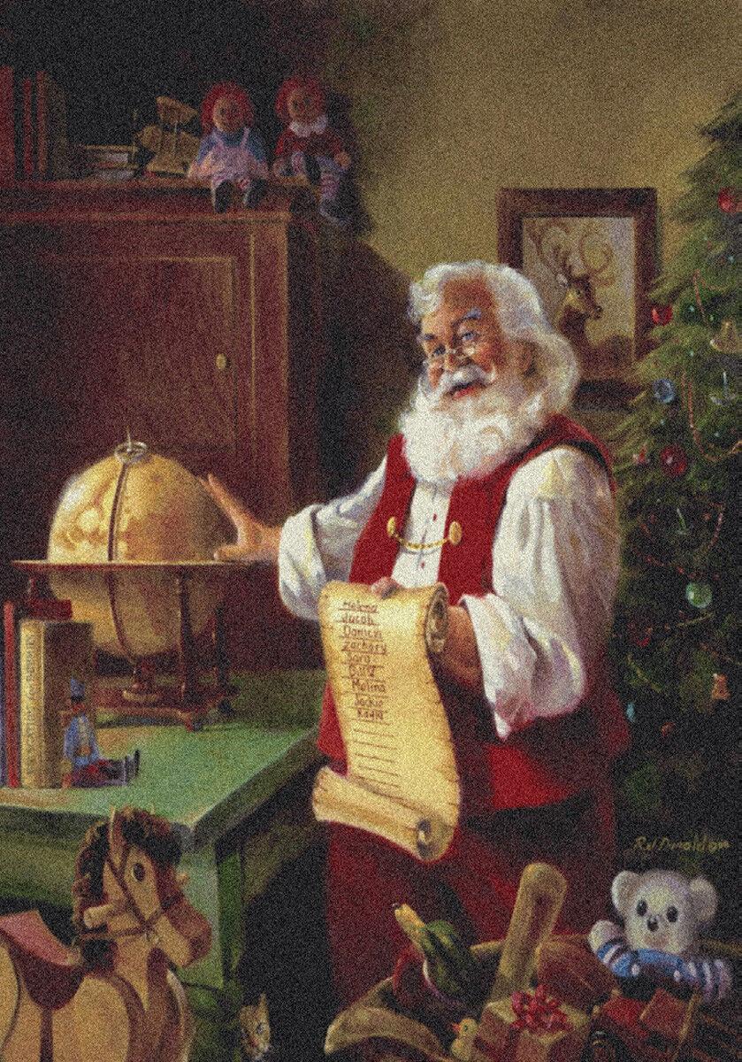 2x4 Milliken Wish List Painterly Santa Claus Area Rug - Approx 2'8 x3'10
