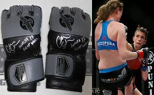 Colleen-Schneider-Signed-Invicta-FC-17-Fight-Used-Worn-Gloves-PSA-DNA-MMA-UFC