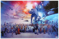 Star Wars -galaxy 23x35 Poster Wall Art Space Fantasy Movie Film Iconic Fun Cool