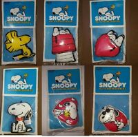 Vtg snoopy Woodstock Peanut Air Freshener Auto Refreshers Plush Window Hang