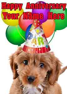 Cockapoo-Dog-Happy-Anniversary-Party-Card-codecop-Personalised-Greetings-Card