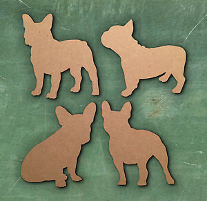 French Bulldog Welcome Sign Wooden Laser Cut Mdf Dog Craft Blanks Shapes