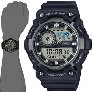 1df6b4a36f2b Casio AEQ-200W-1A Men s World Time Telememo Analog Digital Alarm ...