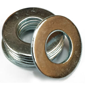 M4 to M7 to M20 Metric Standard Flat Washers DIN125A Form A Bright Zinc Plated