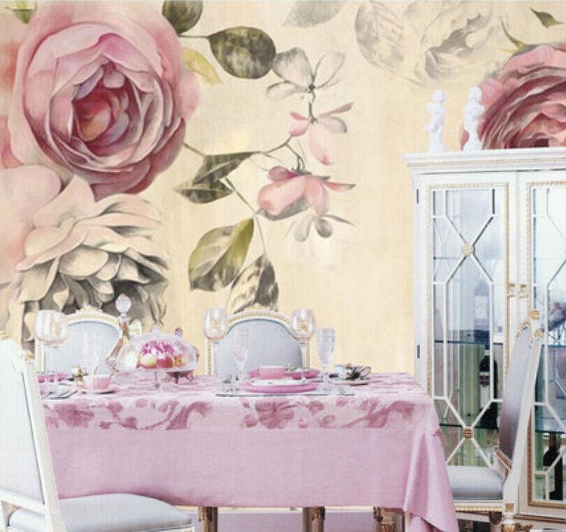 Papel Pintado Mural De Vellón Hermosa Pintura De Flores 2 Paisaje Fondo Pantalla