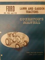 Ford 80 100 120 Garden Tractor & 36 2-stage Snow Thrower Owners (2 Manuals) 58pg