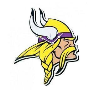 Minnesota-Vikings-3D-Fan-Foam-Logo-Wanduhr-NFL-Football-Relief-Wall-Clock