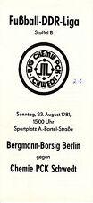 DDR-Liga 81/82  BSG Chemie PCK Schwedt - BSG Bergmann-Borsig Berlin 23.10.1981