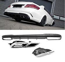 Für Mercedes-Benz E-Klasse W212 E63 AMG Look Heckschürze Stoßstange Diffusor #74