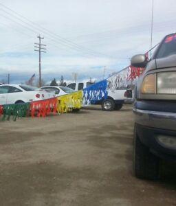 Car Dealer Lot 3 60 180 Poly Fringe Advertise Streamers Multi