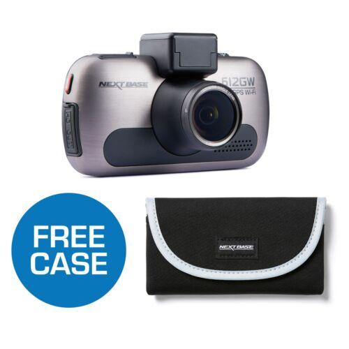 """Nextbase 612GW Dash Cam caméra frontale GPS WIFI 4k Ultra HD ÉCRAN TACTILE 3/"""" Case"""