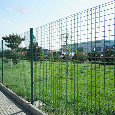 Green Pvc Coated Wire Mesh Fence Garden Protective Netting Border Sauard A Ebay