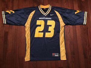 new products 5c9df 858ee Details about WEST VIRGINIA UNIVERSITY MOUNTAINEERS FOOTBALL JERSEY MENS  LARGE WVU NIKE TEAM L