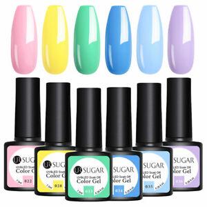 6-Bottles-UR-SUGAR-Fruehling-Farben-UV-Gellack-Set-UV-LED-Lamp-Gel-Nagellacke