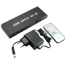 1080P 5×1 HDMI Switch 5Port Splitter IR Remote 3D for PS3 PC TV EU Power Adapter
