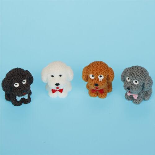 Teddy DogResin Miniature Figurine Fairy Garden Dollhouse Decor Micro-LandscapeRD