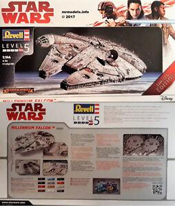Revell-1-144-Star-Wars-Millennium-Falcon-Fine-Molds-New-Plastic-Model-Kit-06880