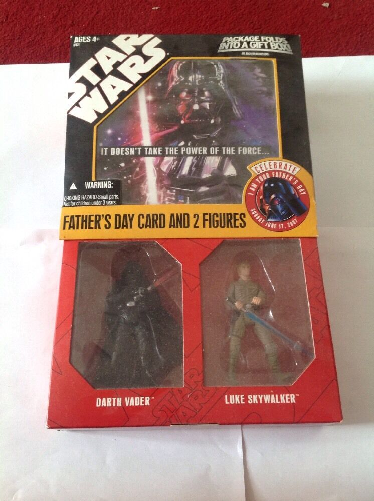 Hasbro Star Wars Fathers Day Card and 2 Figures 2007