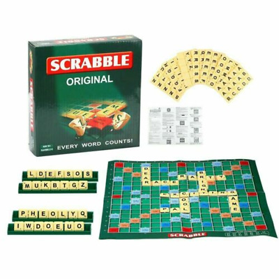 Details about  Mini Original Scrabble Board Game Kids Adults Family  Educational Toy Game AU