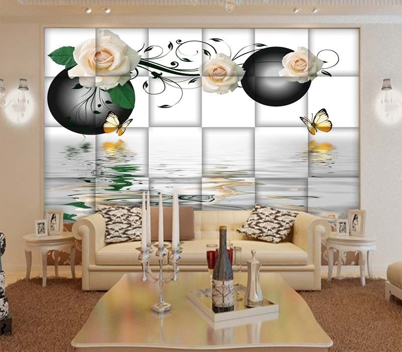 Sincere Water Roses 3D Full Wall Mural Photo Wallpaper Printing Home Kids Decor