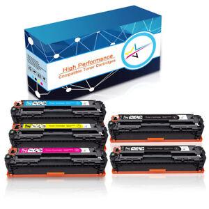 5-Toner-Cartridge-CB540A-125A-Combo-Black-Color-For-HP-Laserjet-CP1518n-CP1518ni