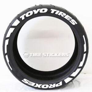 Toyo Tires White Letters >> Details About Toyo Tires Proxes Frost Tire Lettering 1 50 15 16 Tire Stickers White