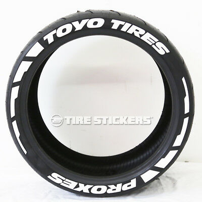 Toyo Tires White Letters >> Toyo Tires Proxes Frost Tire Lettering 1 50 17 18 Tire Stickers White Ebay