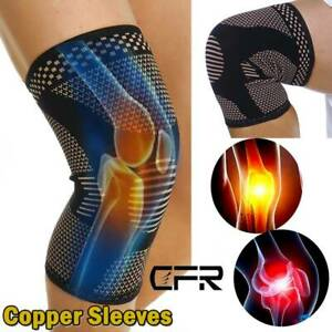 Knee-Sleeve-Compression-Brace-Support-Sport-Joint-Injury-Pain-Arthritis-Copper-O