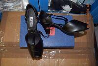 Black Leather Roch Valley Hera Ballroom/latin Dance Shoes-size Uk 3.5