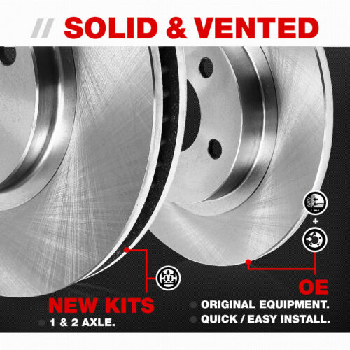 Rear OE Rotors Ceramic Pads For Hyundai Sonata Tucson XG300 Kia Optima Sportage