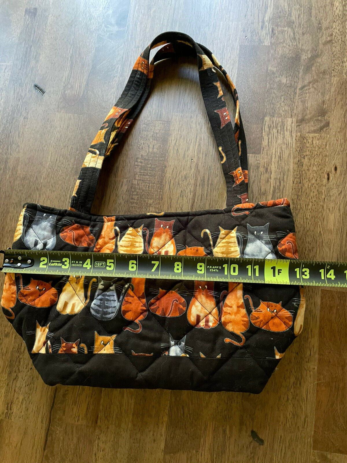 Kitten Cat Quilted Tote Purse Bag - image 6