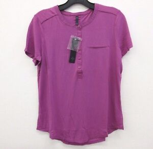NWT-NYDJ-Not-Your-Daughter-039-s-Jean-Magenta-Pleated-Back-T-Shirt-Blouse-Size-XS