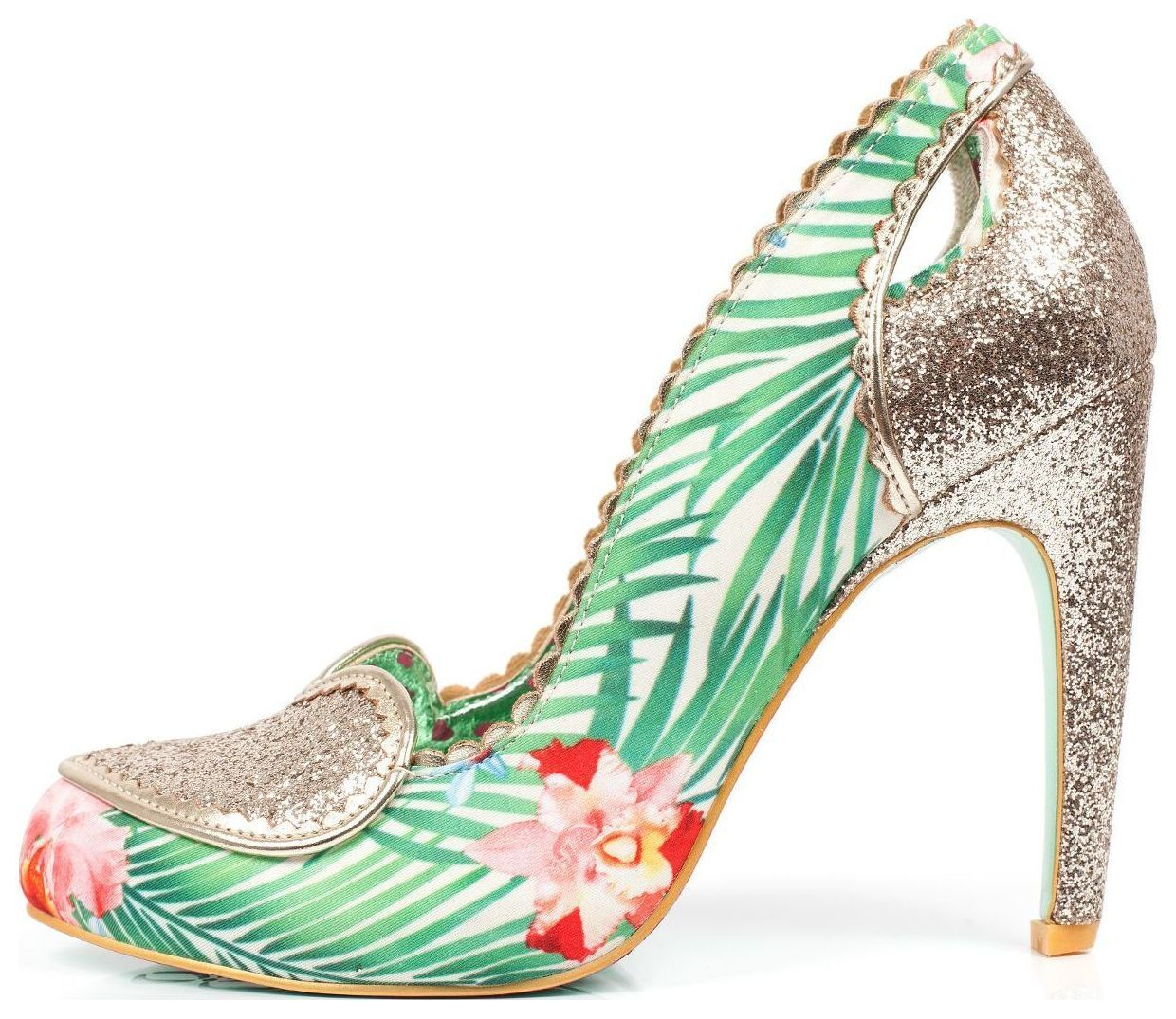 Descuento barato Poetic Licence by Irregular Choice Loren Love Gold Multi Shoes - EU 38 - 40