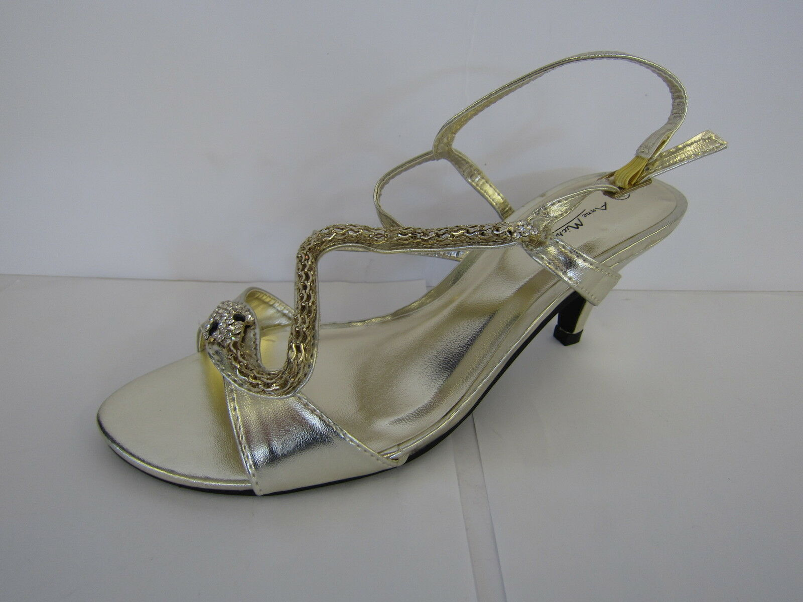 LADIES ANNE MICHELLE WITH GOLD OPEN TOE SANDAL WITH MICHELLE SNAKE DESIGN L3414 d1d0db